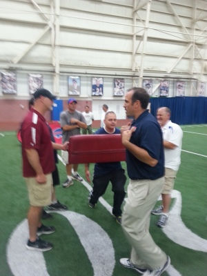 Jeff Davis, Dave Archer and John Lloyd and USA Football Master Trainer Vince DiGaetano