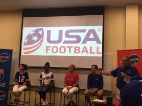 Dr. Jennifer McVigue Dent Neurological, Valerie Williams,Dana Roman and Jeffrey Mazurek Buffalo Bills Director of Equipment Operations