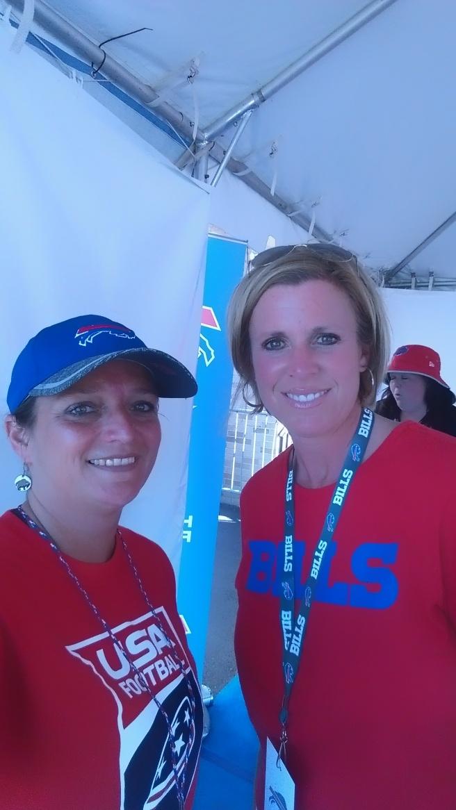 Kerry Atlas and Dana Roman, wife of Greg Roman, Buffalo Bills Offensive Coordinator